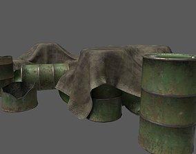 3D model Military Barrel Pack