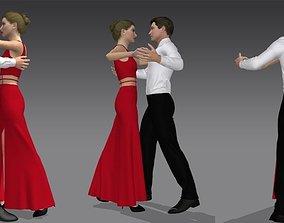 Dancing couple 3D model