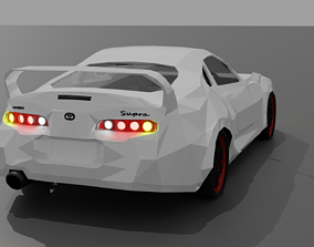 3D model Toyota Supra mk4 Low Poly