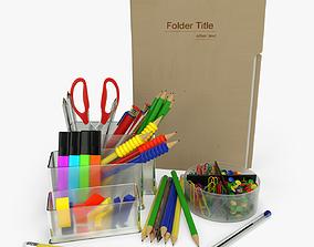 paper Office Supplies 3D model