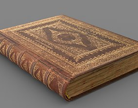 3D model Old book cover