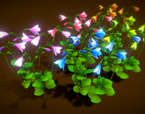 3D model Flower Linnaea Borealis