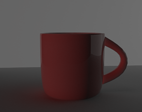 3D model A red Cup