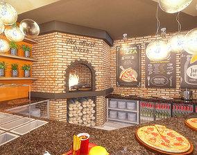 3D model Pizza Restaurant