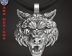 wolf 1 Pendant jewelry 3D printable model