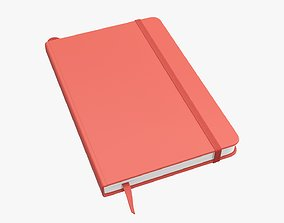 Notebook hardcover with strap small A5 3D model