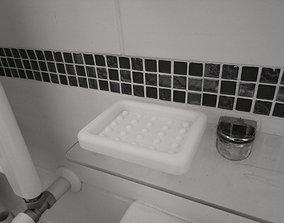 Soap bar Holder Bathroom - Soap 3D printable model 3