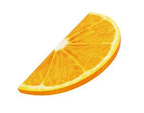 3D Orange round slice half