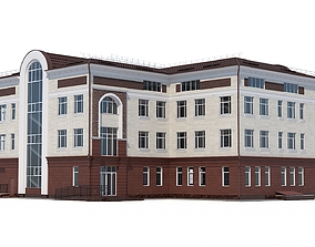 Building in modern style 3D