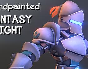 3D model Handpainted fantasy knight