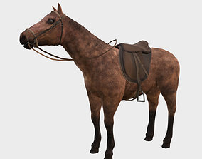 3D model rigged Horse