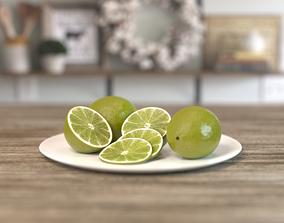 Lime Fruit juicy 3D