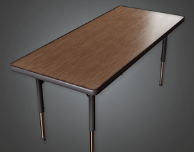School Table - CLA - PBR Game Ready 3D asset