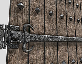 Medieval Noble Reinforced Door 3D model