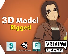 Gabi SNK VRChat Avatar PC 3D model