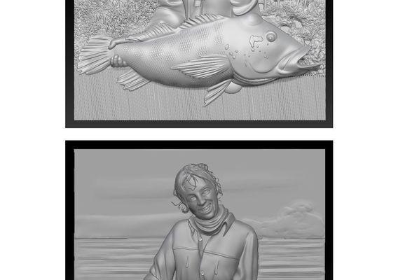 3D models portraits by photo