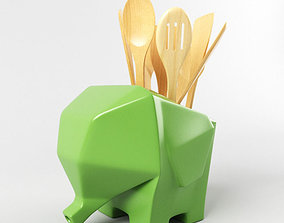 3D model Elephant Cutlery Drainer