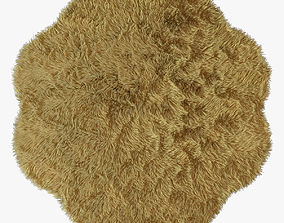 New Zealand sheepskin beige figure 3D