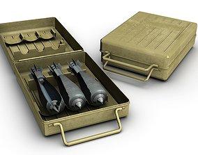 explosive 3D model 8cm Mortar Bomb