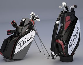 3D Titleist Golf Bags Tour Staff