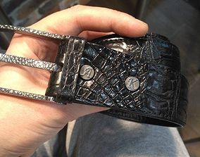 3D print model buckle crocodile texture