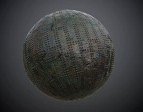 3D model Metal Plate Armor Seamless PBR Texture