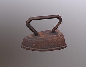 3D asset Antique Cuff Iron Rusty