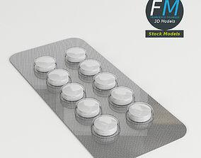 3D Circular pills in blister pack