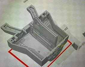 3D print model Revell B1B Lancer Rear Interior Wheelbay 1