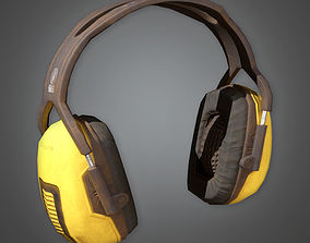 Working Ear Protectors TLS - PBR Game Ready 3D model