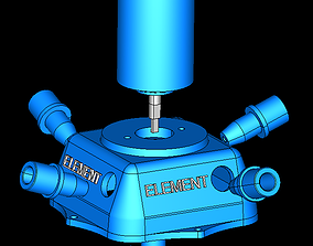3D printable model Turgo Turbine Full Station