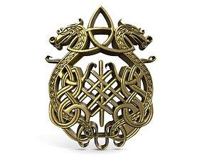 3D printable model Celtic dragons