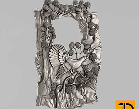 3D printable model sculpture Carved panels