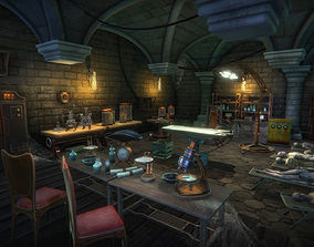 3D asset Mad scientist lab scene
