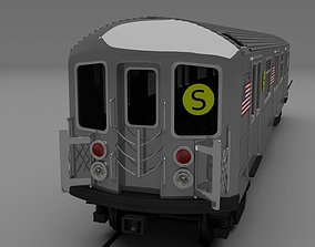 3D model New York subway train