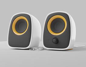 Desktop speakers Philips 3D model rigged electronics
