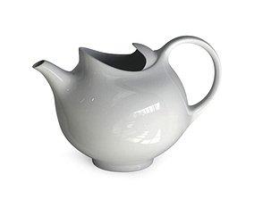 3D model White Ceramic Teapot