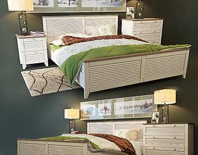 Bed Riviera Mediterranean 3D model