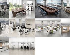 10 Office Interior Pack Collection 3D model