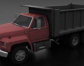 F-800 Dump Truck Tandem Axle 1980 3D asset