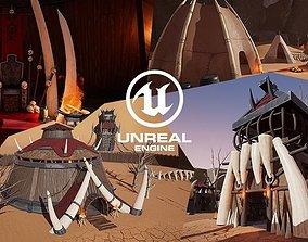 3D model UE4 - Stylized Orc Village
