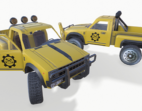 PickUP Yellow 3D model