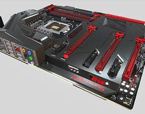 Asus Maximus VII Formula Game 3D model