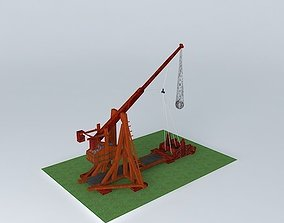 3D model Ballista catapult