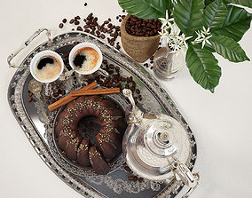 coffee with cake 3D