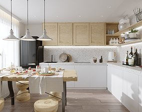 Scandinavian kitchen 3D