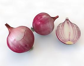 3D asset Onion Red
