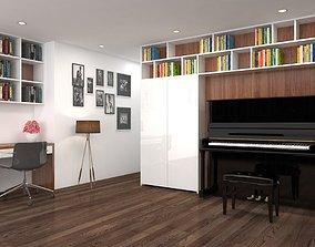 3D model Study room modern