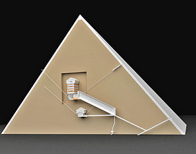3D ancient inside the Great Pyramid Of Khufu in Egypt