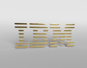 3D IBM Logo Version1 002